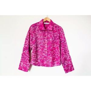 Anage | Vintage 80's Pink Beaded Jacket